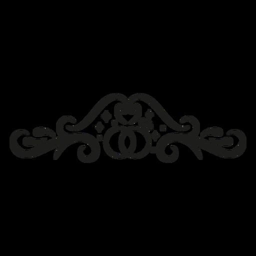 Floral pattern lace design Transparent PNG