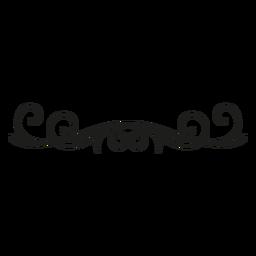 Florezca el diseño decorativo del borde del cordón