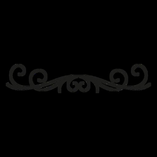 Flourish decorative lace edge design