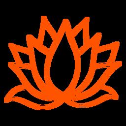 Flower lily plant stroke design
