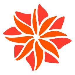 Blume tropische Pflanze Hand gezeichnet