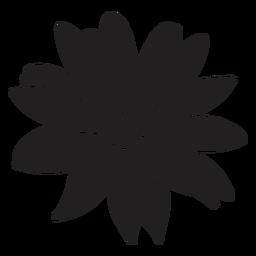Silhueta de planta tropical de flor
