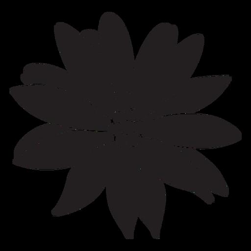 Flower tropical plant silhouette Transparent PNG