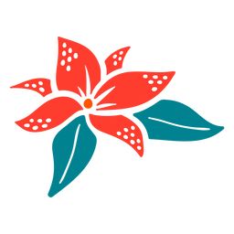 Flower tropical type hand drawn