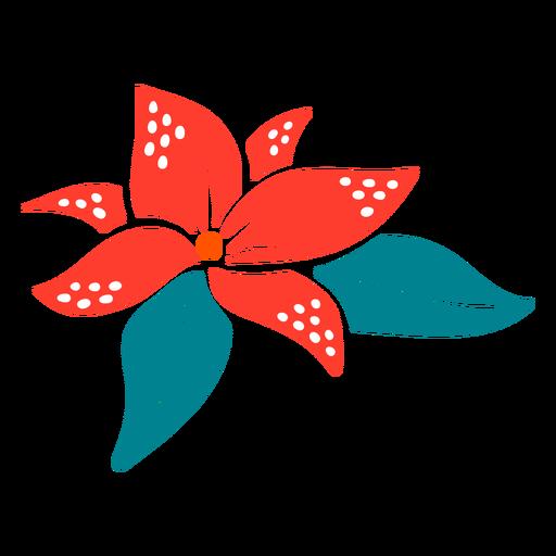 Dibujado a mano tipo tropical flor Transparent PNG