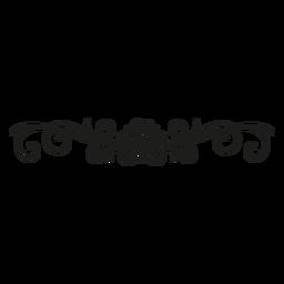 Desenho floral de renda