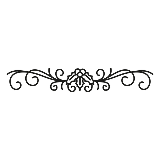 Desenho de renda florido Transparent PNG