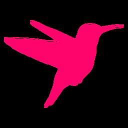 Silhueta de beija-flor voando