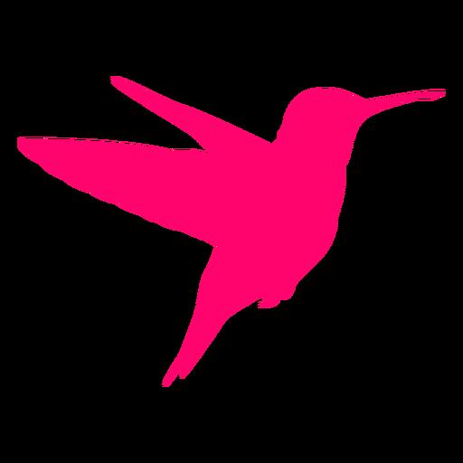 Silueta de colibr? volador