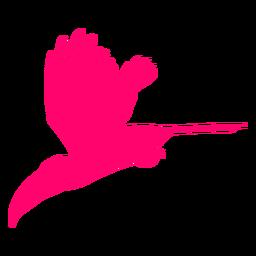 Silhueta de pássaro tucano voando
