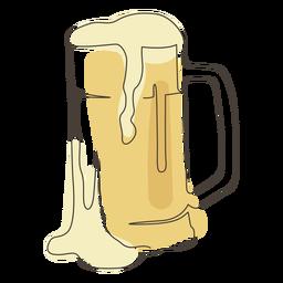 Foam beer glass stroke beer