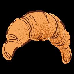 Ilustración de croissant francés