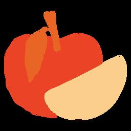 Fruta cortada manzana iconos