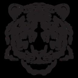 Golpe de tigre peludo