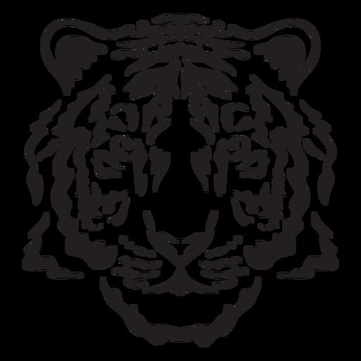 Golpe de cabeza de tigre peludo