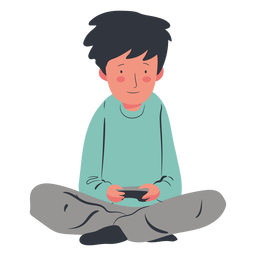 Gamer character boy flat