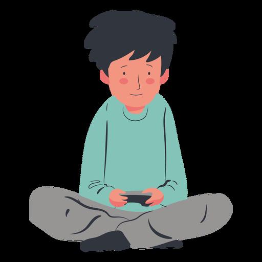 Gamer personaje chico plano