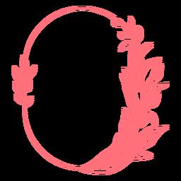 Figura geométrica adorno ovalado marco vinilo