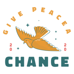 Give peace a chance dove badge