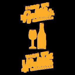 Diseño de bolsa de vino gobble wobble