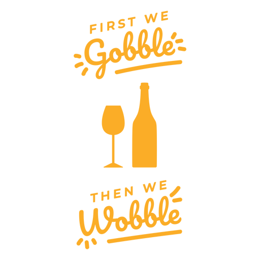 Gobble wobble wine bag design