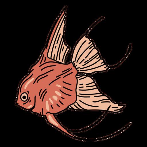 Pez de trazo de océano Goldfish