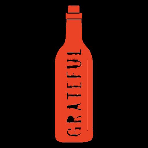 Grateful wine bag text design