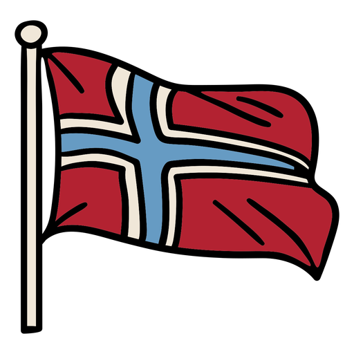 Hand drawn norway flag