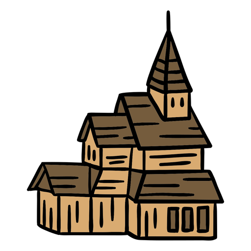 Hand drawn cathdral church building Transparent PNG