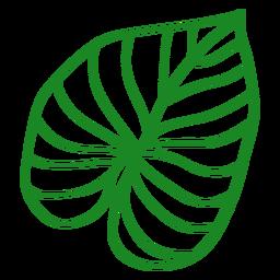 Hand gezeichnete Blatt tropische Pflanze