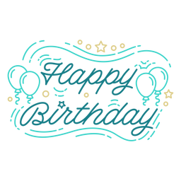 Alles Gute zum Geburtstag Ballons Schriftzug Geburtstag