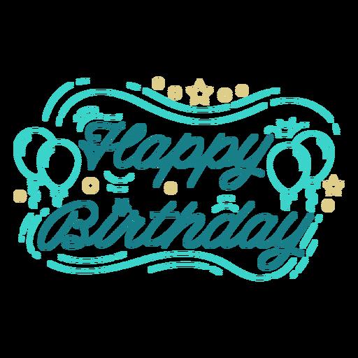 Happy birthday balloons lettering birthday