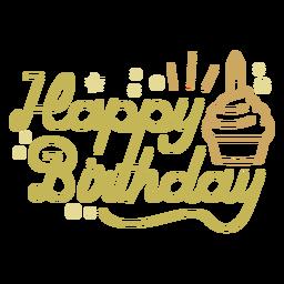 Alles Gute zum Geburtstag Cupcake Zitat