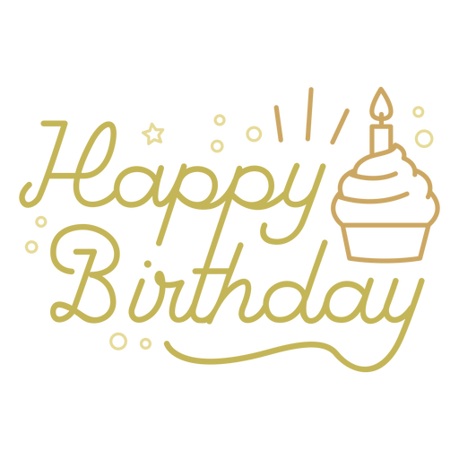 Happy birthday cupcake quote Transparent PNG