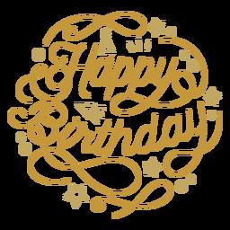 Feliz cumpleaños figura letras