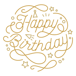 Happy birthday figure lettering