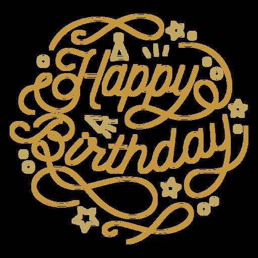 Happy birthday figure lettering