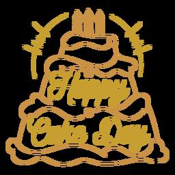 Feliz día de pastel saludo de cumpleaños cita