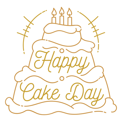 Feliz d?a de la torta saludo de cumplea?os cita