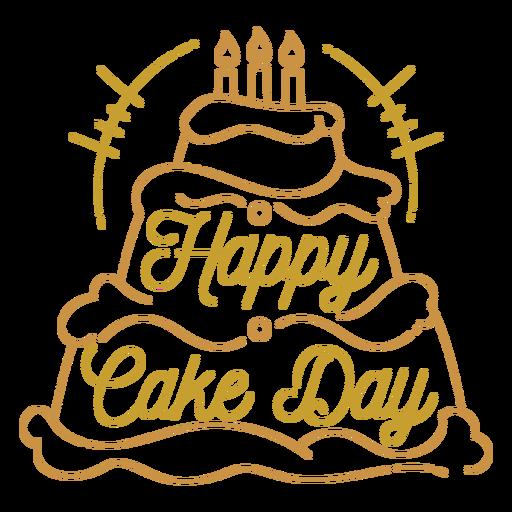 Happy cake day birthday greeting quote
