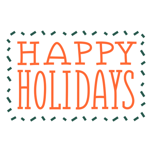Happy holidays greetings lettering