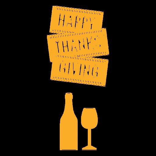 Diseño de saludo de bolsa de acción de gracias feliz