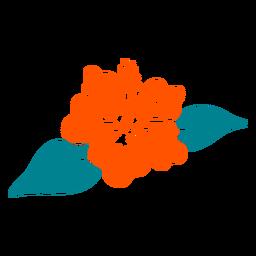 Mão de hibisco flor tropical desenhada
