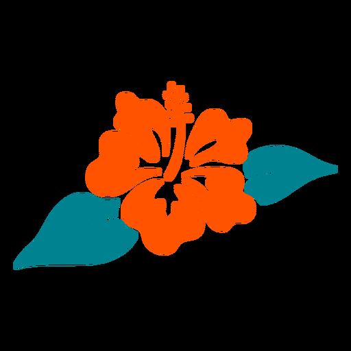 Dibujado a mano tropical de flor de hibisco Transparent PNG