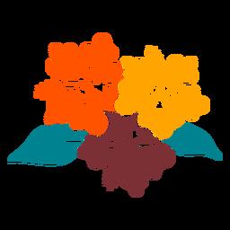 Hibisco flores tropicais mão desenhada design
