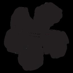 Silhueta de flor tropical de hibisco