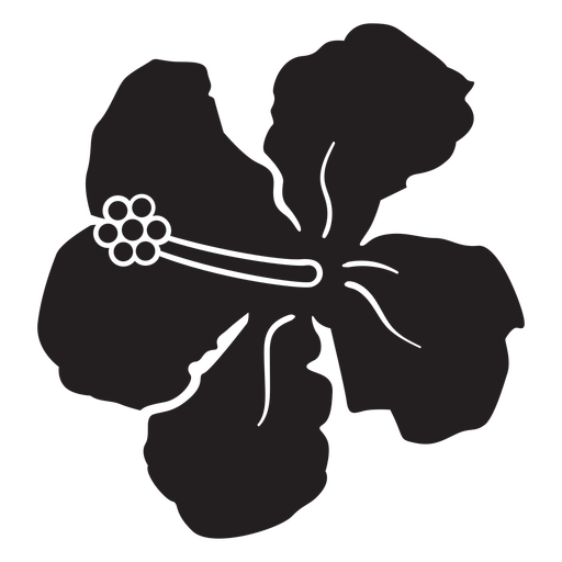 Hibiscus tropical flower silhouette