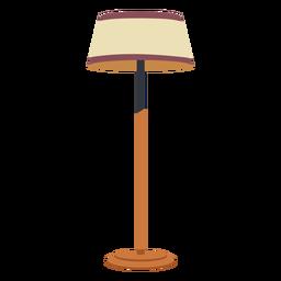 Lámpara de pie de casa plana