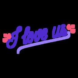 I love us romantic lettering