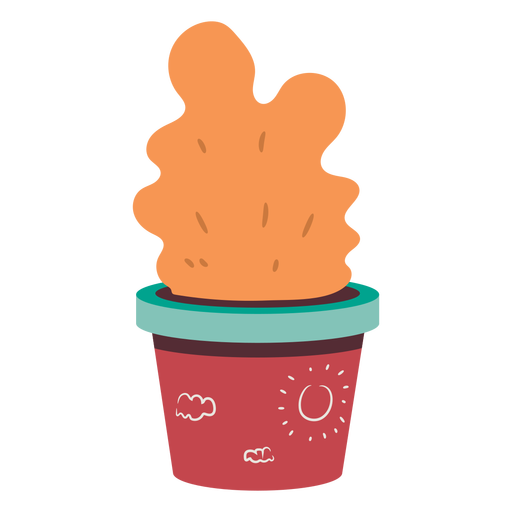 Isometric house plant red pot